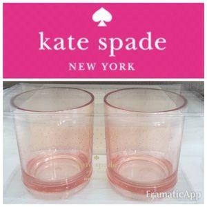 🆕Set of 2 ♠️Kate Spade NY Acrylic Patio Glasses